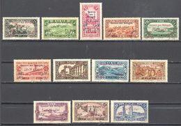Syrie: Yvert N° 167/178x Quelques  Rousseurs De Gomme Sur Certains - Syrien (1919-1945)