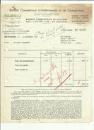 Facture De Sté  Commerciale Affretement Et Combustibles (Charbon-Boulet-Coke A Bayonne Adressé A Mr Talpone En  1965 - 1950 - ...