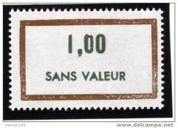 FRANCE FICTIF N° F182 ** Timbre Neuf Gomme D´origine Sans Trace De Charnière - TB - Phantomausgaben
