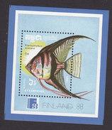 Cambodia, Scott #883, Mint Hinged, Fish, Issued 1988 - Cambodja