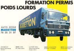 Dépliant - Formation Permis Poids Lourds - Auto Ecole MARIETTON - LYON - Transports