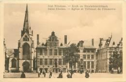 SAINT NICOLAS - Eglise Et Tribunal De Commerce - SINT NIKOLAAS - Kerk En Handelsrechtbank - Sint-Niklaas
