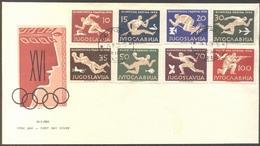 YUGOSLAVIA  - JUGOSLAVIA  -  OLYMPICS  MELBURN - FDC  - 1958 - Sommer 1956: Melbourne
