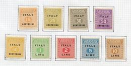 Italie Occupation 1943 Y&T N°OI1à 9 - Occupation Austro-hongroise - Autres
