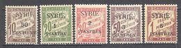 Syrie: Yvert Taxe N° 22/26* - Syrien (1919-1945)