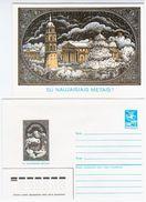 Lithuania USSR 1987 Vilnius, Happy New Year, Envelope + Card Inside - Lituanie