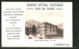 Cartolina Cava Dei Tirreni, Grand Hôtel Victoria - La Cava - Cava De' Tirreni