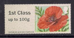 GB 2014 QE2 1st Up To 100 Gms Post & Go Common Poppy No Gum SG FS103 ( J839 ) - Great Britain