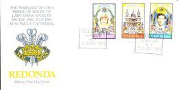 Redonda Envelope FDC 23 July 1981 - Francobolli