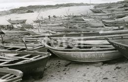 OLD REAL FOTO PHOTO FISHING BOAT BARCO PESCA VILA DO CONDE PORTUGAL POSTCARD SIZE POSTAL - Bateaux