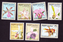 Cambodia, Scott #898-904, Mint Hinged, Orchids, Issued 1988 - Cambodia