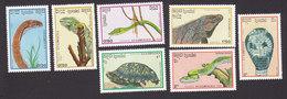 Cambodia, Scott #905-911, Mint Hinged, Reptiles, Issued 1988 - Cambodge
