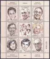 Serbia Serbien 2017 MNH** S-769-776 Doyens Of Serbian Theatre - Serbia