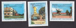 Cambodia, Scott #918-920, Mint Hinged, Telecommunications, Issued 1989 - Cambodge