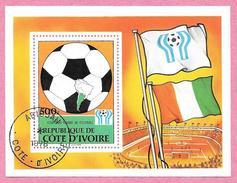 République De COTE D'IVOIRE - 1978 - Bloc N° 12 - Coupe Du Monde De Football Argentine 1978 - Oblitéré - Côte D'Ivoire (1960-...)