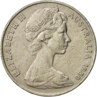 Australie, Elizabeth II, 20 Cents, 1980, TTB, Copper-nickel, KM:66 - Monnaie Décimale (1966-...)