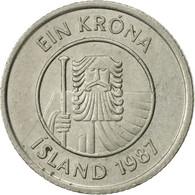 Iceland, Krona, 1987, SUP, Copper-nickel, KM:27 - Iceland