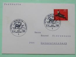 Germany (Berlin) 1966 FDC Card - Animal - Chamois - [5] Berlin