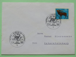 Germany (Berlin) 1966 FDC Cover - Animal - Red Deer - Chamois Cancel - [5] Berlin