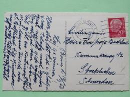 """Germany 1956 Postcard """"""""Bonn - Bundeshaus"""""""" To Sweden - President - [7] Federal Republic"""