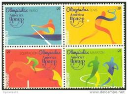 Uruguay 2016 ** America UPAEP. JJ.OO. De Rio. Remo. Tenis. Equitacion. Maraton. See Desc - Joint Issues