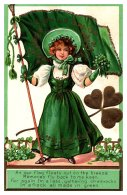 13336 St.Patrick's Day    Lass, Irish Flag - Saint-Patrick's Day
