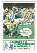 IMAGE LA VACHE QUI RIT JE MARQUE DES BUTS COMME ROSSI 3e COUPE NATIONALE DE FOOTBALL A 7 EN 1983 - Vieux Papiers