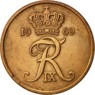 Danemark, Frederik IX, 5 Öre, 1969, Copenhagen, TTB, Bronze, KM:848.1 - Danemark