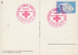 Carte    Centenaire   Comité  CROIX  ROUGE   LE  PUY   1974 - Red Cross