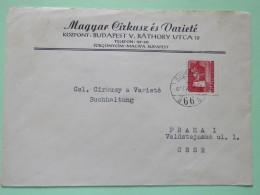 Hungary 1961 Cover Budapest To Czechoslovakia - Castle - Hungary