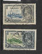 Nyasaland, 1935 George V Silver Jubilee 1d, 2d Used - Nyassaland (1907-1953)