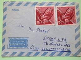 Hungary 1963 Cover Szeged To Czechoslovakia - Janos Batsanyi - Hungary