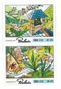 CHROMO IMAGE CHOCOLAT POULAIN PRINTEMPS AVRIL CARILLONNE N°45 ET 47 - Poulain