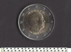 ** 2 EUROS 2014 MONACO TRANCHE A PIECE LEGEREMENT CIRCULEE / TTB **20** - Monaco