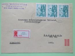 Hungary 1966 Registered Cover Szeged To Budapest - Bus Autobus Ships - Hungary