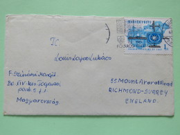 Hungary 1967 Cover Budapest To England - Transport Plane Train Ship - Covers & Documents