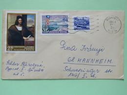 Hungary 1968 Cover Budapest To Mannheim - Bus - Balaton Lake - Ship - Painting Sebastiano Del Piombo - Hungary