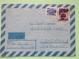 Hungary 1969 Cover Esztergem To England - Bus - Television Antenna - Covers & Documents