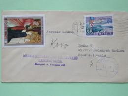 Hungary 1970 Cover Budapest To Czechoslovakia - Balaton Lake - Ship - Painting St. Catherine By Master Of Bat - Hungary