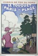 Chemin De Fer Du Nord Le Touquet Paris-Plage Golf - Postcard - Poster Reproduction - Publicité