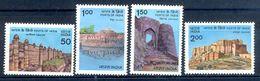 S64- India 1984. Forts Of Gwalior, Vellore, Simhagad & Jodhpur. Architecture. - India
