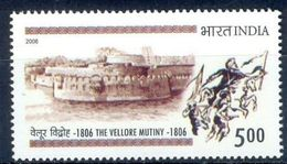 S65- India 2006. 200 Years Of Vellore Mutiny. Fort. Architecture. Horse. War. Militaria. - India