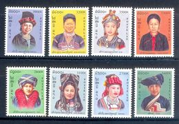 S67- Eight Stamps Of Lao, Laos. High Value. National Dresses. Folklore  Culture. - Costumes