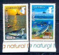 S69- Azerbaijan 2001 Fishes. Seal. Ducks. Crabs. Europa. Map. Water. Animals. - Azerbaïjan