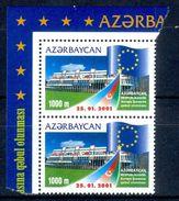 S71- Azerbaijan 2001. Admission To European Council. Flag. Europa Sympathy  Issue. - Azerbaïjan