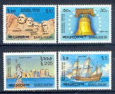 S82- Bangladesh 1976 American Revolution. Liberty Bell Statue Of Liberty. Mountrushmore. Mayflower. Ship. - Bangladesh