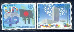 S86- Bangladesh 1985. 40th Anniversary Of UNO, United Nations, Flag, Building, Architecture. - Bangladesh