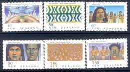 S94- New Zealand 1990. Heritage The Maori Legend Maori Feather Cloak Song Tattoo War Canoe Prow. - New Zealand