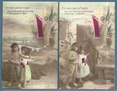 CPA - ENFANTS - EN ROUTE POUR LA FRANCE - ALSACE - 5 CARTES - Children And Family Groups