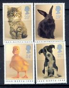 S97- Great Britain. England UK 1990 RSPCA Centenary. Cat. Dog. Duck & Rabbit. - Other